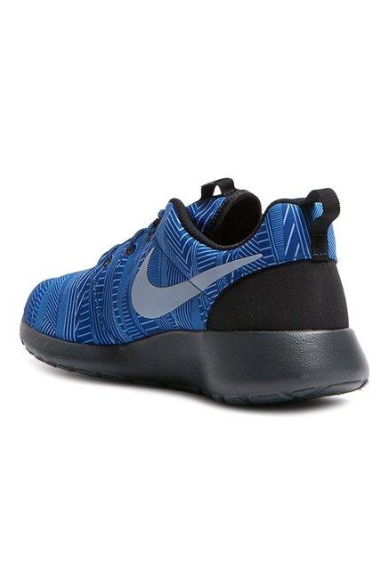 brand new 1e57b 1180f Nike Roshe One Print Blue   Black Training Shoes