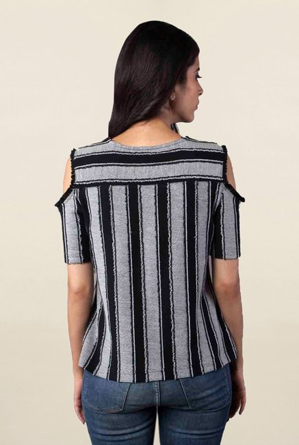 Postfold Black Striped Top