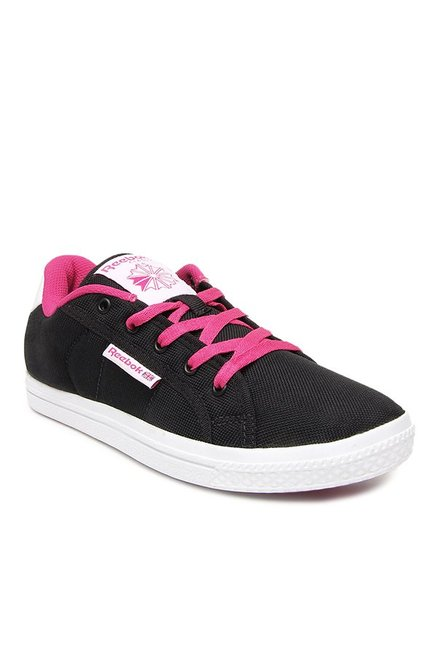 b18679b35478 Buy Reebok On Court LII LP Black   Pink Sneakers for Women at Best Price    Tata CLiQ
