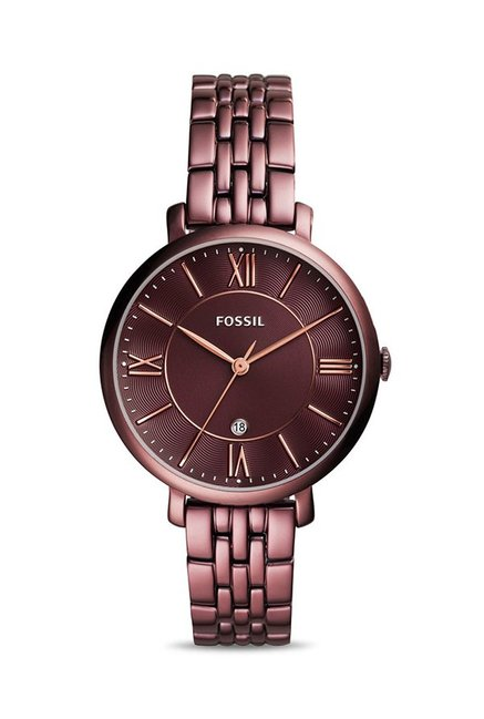 Fossil ES4100 Maroon Analogue Women's Watch