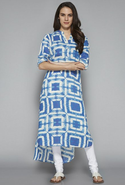 Utsa by Westside Indigo High-low Kurta