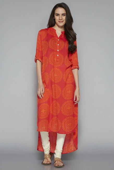 Utsa by Westside Pink High-low-Kurta