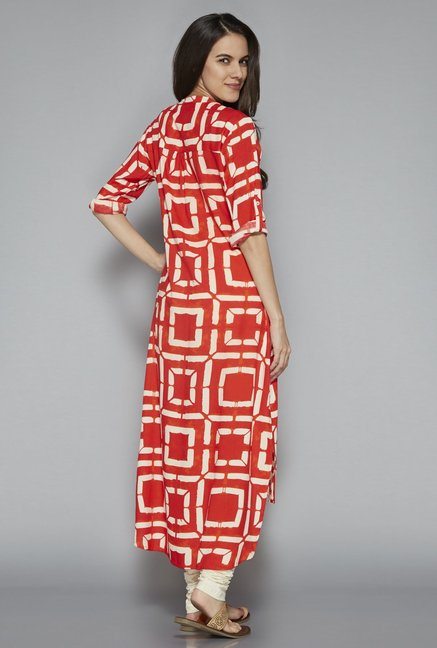 Utsa by Westside Red High-low Kurta