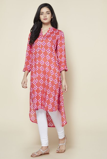 Zudio Fuchsia High-low Kurta