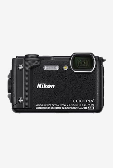 Nikon Coolpix W300 16 MP Point   Shoot Camera with 16 GB Card, Carry Case and HDMI Cable  Black