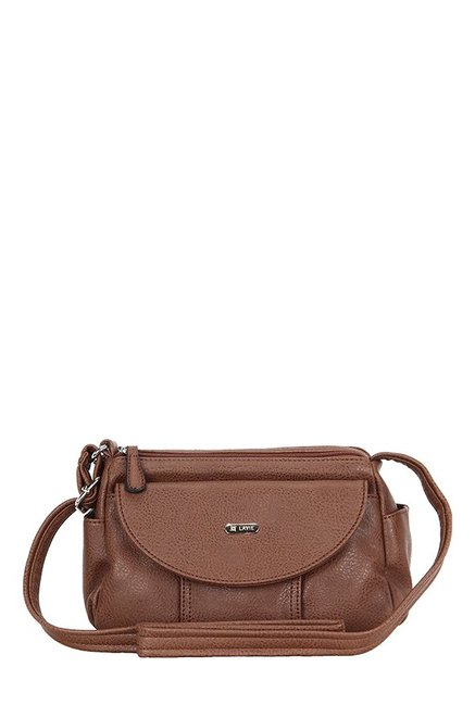c615164ab4c Buy Lavie Sisal Brown Solid Sling Bag For Women At Best Price   Tata CLiQ