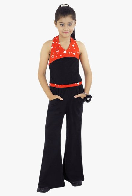 be869a03f3 Buy Naughty Ninos Black & Red Printed Jumpsuit for Girls Clothing ...