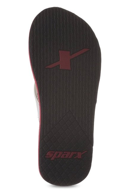 Sparx White & Red Flip Flops