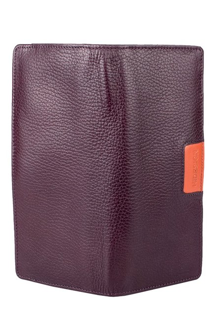 Hidesign Meghan W2 Purple RFID Leather Bi-Fold Wallet