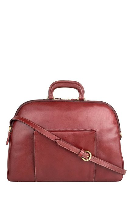 Hidesign Liscio 02 Red Leather Laptop Messenger Bag