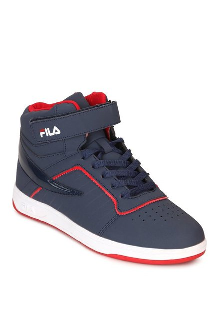 862a364e79a5 Buy Fila Terenzo Navy   Red Ankle High Sneakers for Men at Best ...
