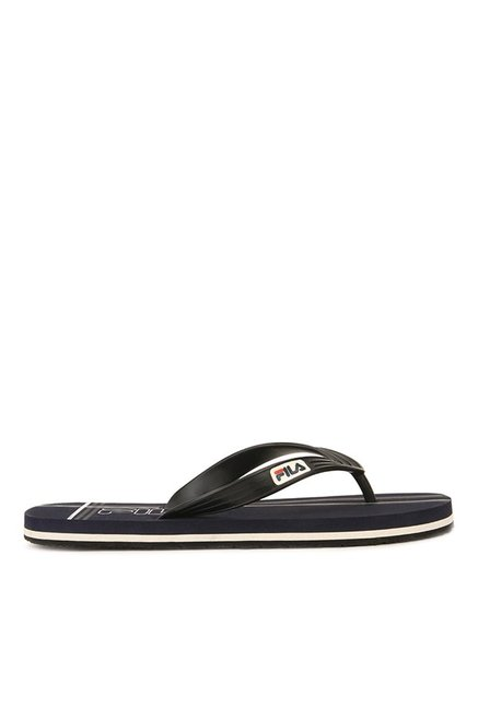 289611b2ac7ab1 Buy Fila Cross Black   Navy Flip Flops for Men at Best Price   Tata CLiQ