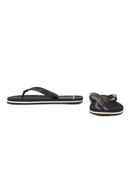 Fila Cross Black & Navy Flip Flops