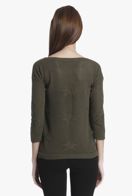 Only Olive Crochet Pullover