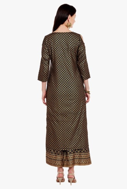 Varanga Green & Black Embroidered Kurta With Palazzo