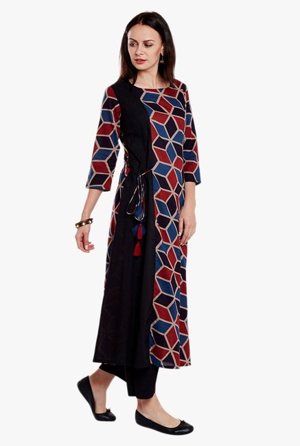 Varanga Multicolor Printed Cotton Kurta