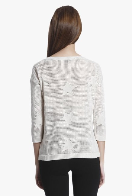 Only Off White Crochet Pullover
