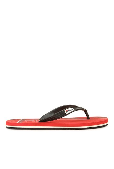 ce93a3a3bfc107 Buy Fila Cross Black   Red Flip Flops for Men at Best Price   Tata CLiQ