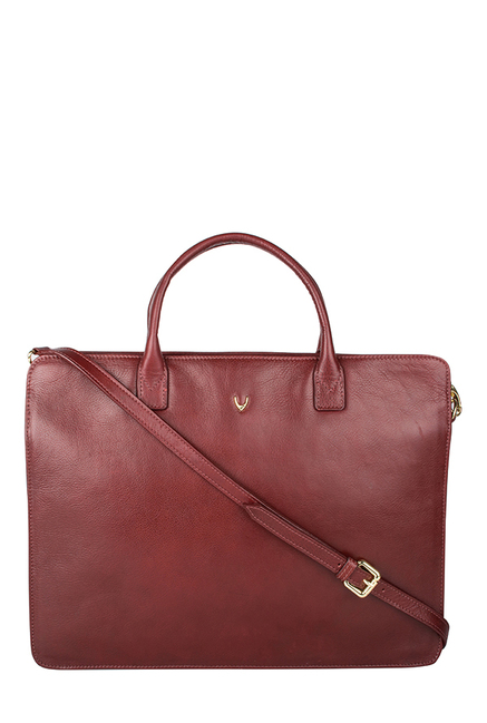 Hidesign Adele 01 Red Leather Laptop Messenger Bag