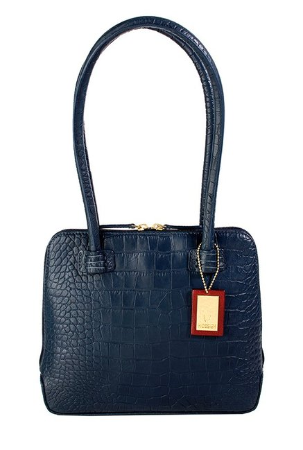 Hidesign Estelle Small Navy Textured Shoulder Bag
