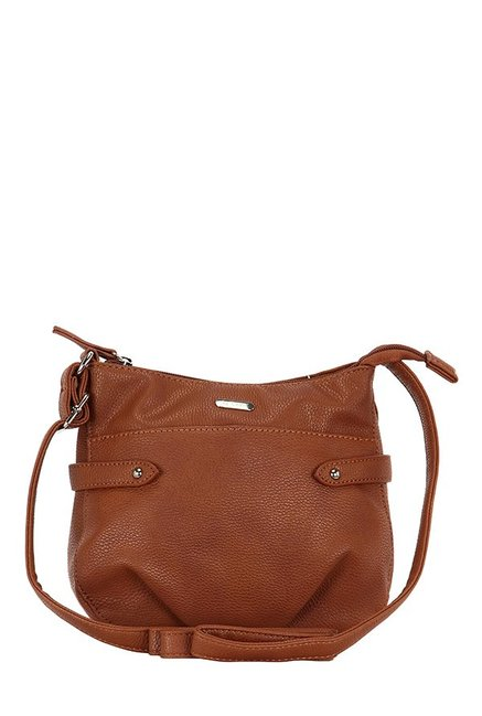 61dc9f71d7a Buy Lavie Verso Tan Solid Sling Bag For Women At Best Price   Tata CLiQ