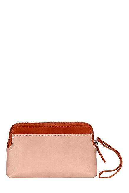 Lavie Solar Pink & Tan Cut Work Wristlet