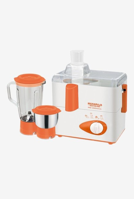 Maharaja Whiteline JMG JX-112 2 Jars Juicer Mixer Grinder (Orange)