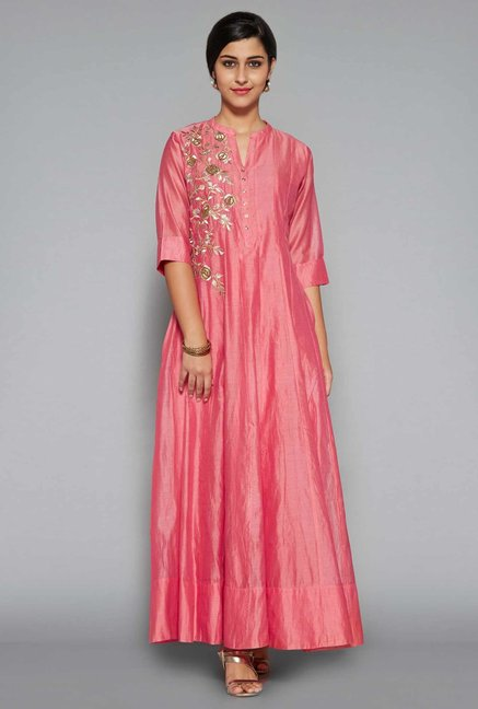 5f9119e9e Buy Vark by Westside Pink Ethnic Maxi Dress for Women Online @ Tata CLiQ