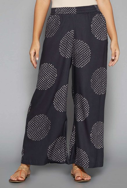 Utsa by Westside Navy Printed Palazzos
