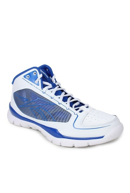 bc7a0947fb9c Buy Reebok Sublite Pro Rise White   Blue Basketball Shoes for Men at Best  Price   Tata CLiQ