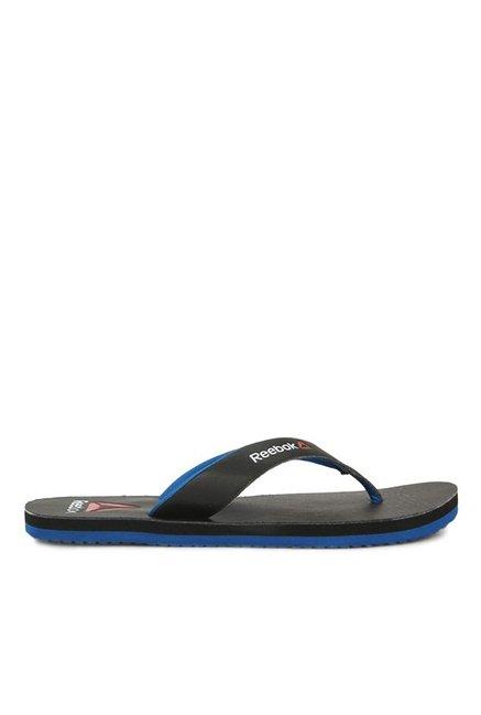 da21447388a0 Buy Reebok Advent Black   Blue Flip Flops for Men at Best Price ...