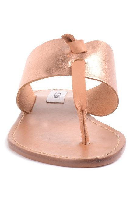 38d0f535f1f0 Buy Steve Madden Olivia Rose Gold T-Strap Sandals for Women at Best ...
