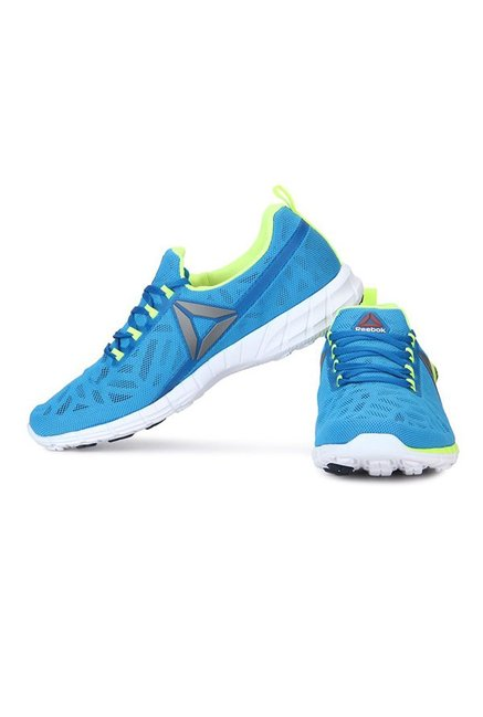 9dd446f116a6 Buy Reebok Zpump Fusion 2.5 Blue   Lime Green Running Shoes for Men ...