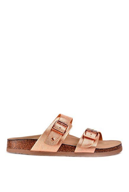 8aaeebc857f2 Buy Madden Girl Brando Rose Gold Casual Sandals for Women at Best ...