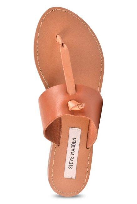 791af37970fd Buy Steve Madden Olivia Cognac T-Strap Sandals for Women at Best ...