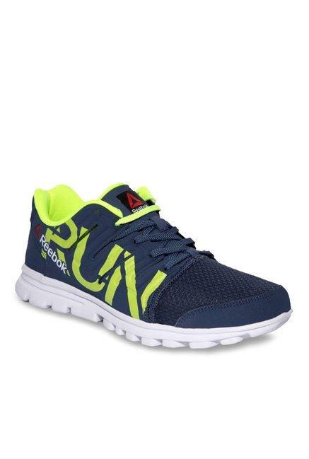 533ff3fdbd0 Buy Reebok Ultra Speed Navy   Green Running Shoes for Men at Best Price    Tata CLiQ