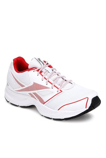ae794a3e38ea36 Buy Reebok City Runner LP White   Red Running Shoes for Men at Best Price    Tata CLiQ