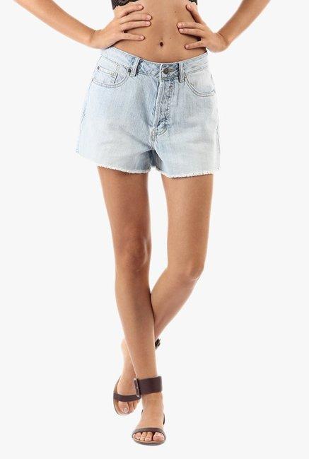 d508c03a9a Buy Vero Moda Blue Cotton Denim Shorts for Women Online @ Tata ...