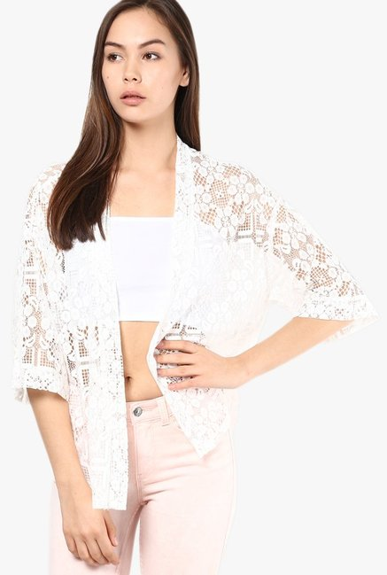 Vero Moda White Lace Shrug