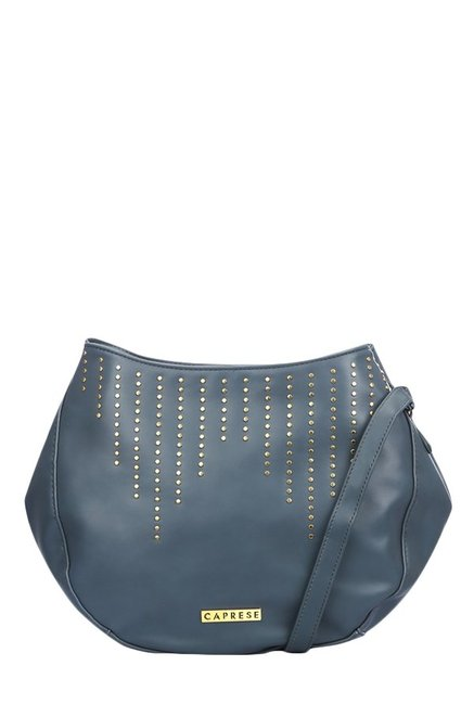 Caprese Nova Navy Riveted Sling Bag