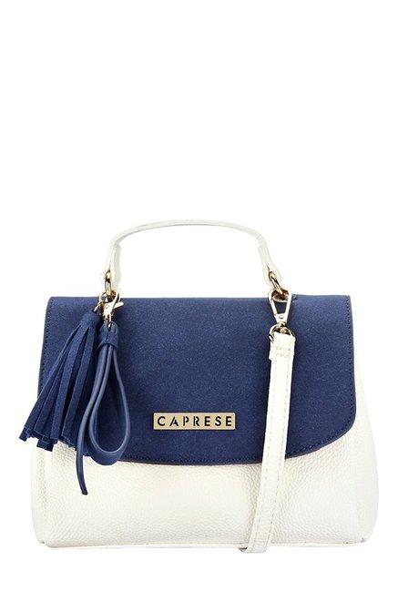 4dfeac6f40 Buy Caprese Aniston Navy   White Tassel Sling Bag For Women At Best Price    Tata CLiQ