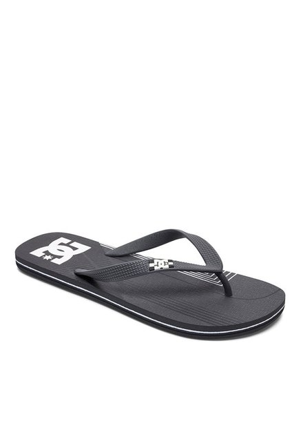 DC Spray Dark Grey & White Flip Flops