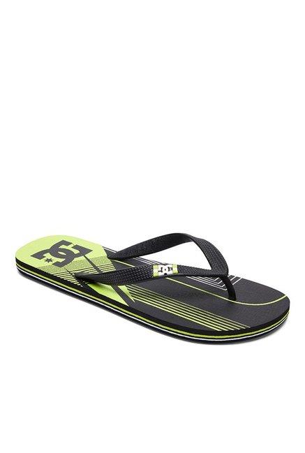10ef85045 Buy DC Spray Black   Lime Green Flip Flops for Men at Best Price ...