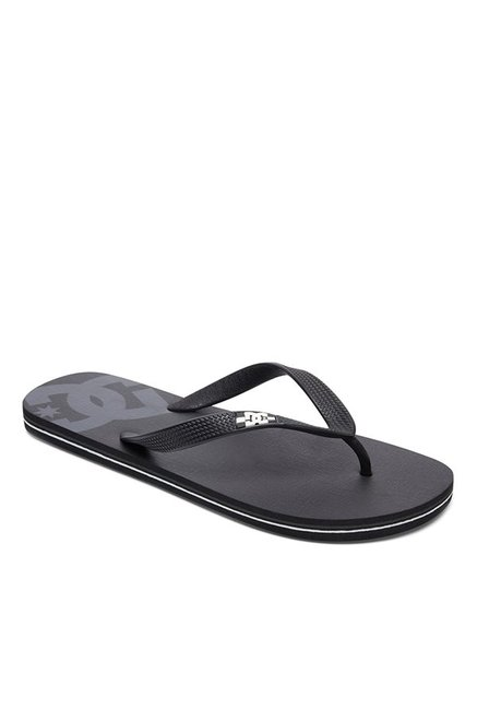 DC Spray Black & Grey Flip Flops