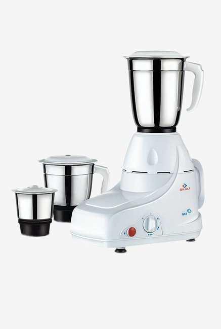 Bajaj GX 8 500 Watts 3 Jar Mixer Grinder (White)