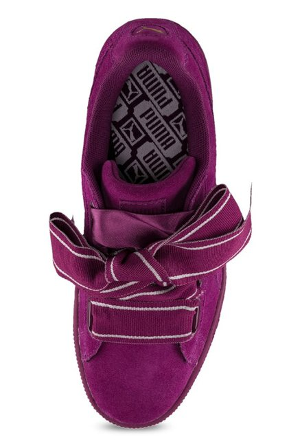 super popular 30424 2420d Buy Puma Heart Satin II Dark Purple Sneakers for Women at ...