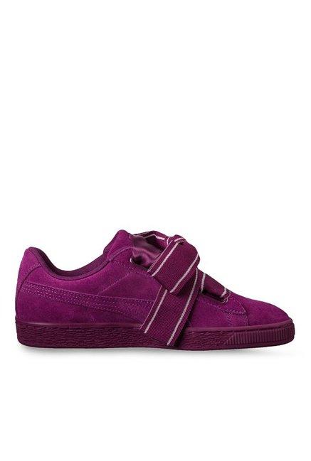super popular eff08 dc112 Buy Puma Heart Satin II Dark Purple Sneakers for Women at ...