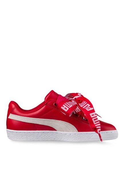 buy online ea994 f84f8 Buy Puma Basket Heart DE Toreador & White Sneakers for ...