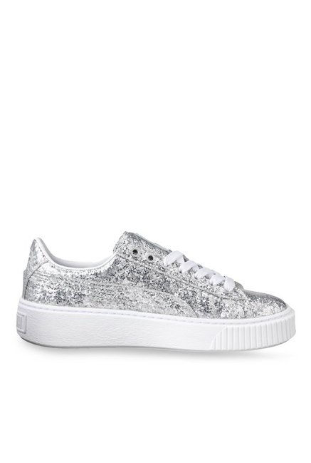 Buy Puma Basket Best PriceTata Sneakers For Women Silver At Cliq SVqULzMpG