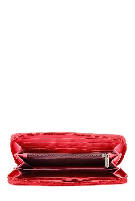Caprese Beryl Pink Riveted Wallet